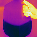 Thermogram Of Milk Jug by Ted Kinsman