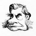 Thomas Huxley, Caricature by Gary Brown