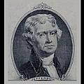 Thomas Jefferson 2 Dollar Bill Portrait by Rob Hans