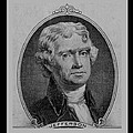 Thomas Jefferson In Black And White by Rob Hans