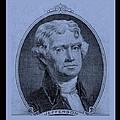 Thomas Jefferson In Cyan by Rob Hans