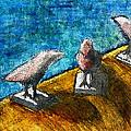 Three Birds Blue by James Raynor