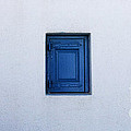 Three Blue Shutters by Bob Christopher
