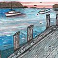 Three Boats In The Harbor by Sea Sons Home and Life