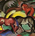 Three Horses by Franz Marc
