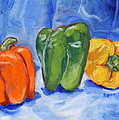Three Peppers by Jan Bennicoff
