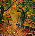 Through The Fallen Leaves II by Frank Wilson