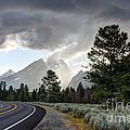 Thunderstorm On Grand Teton Road by Gary Whitton