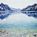 Thunersee Von Leissigen by Ferdinand Hodler