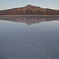Thunupa Volcano Refelcted On The Salar by Michael &Amp Jennifer Lewis