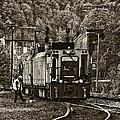 Thurmond Wv Train Sepia by Steve Harrington