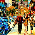 Thursdays Pub On Crescent Street Montreal City Scene by Carole Spandau