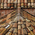 Tile Roof In Croatia by Bob Christopher