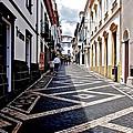 Tiled Street Of Ponta Delgada by Eric Tressler