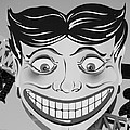 Tillie The Clown Of Coney Island In Black And White by Rob Hans