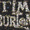 Tim Burton Poster Collection Mosaic by Paul Van Scott