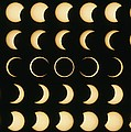 Time-lapse Image Of A Solar Eclipse by Dr Fred Espenak