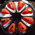 Orange And Black Art -time - Sharon Cummings by Sharon Cummings