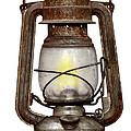Time Worn Kerosene Lamp by Michal Boubin
