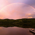 Timing Is Divine Rainbow Over Vermont Mountains by Stephanie McDowell