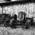 Tired Tractors Bw by Peter Chilelli