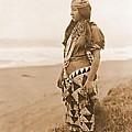 Tolowa Womans Primitive Dress by Padre Art