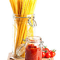 Tomatoes Sauce and  Spaghetti Pasta  by Amanda Elwell