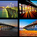 Topsail Piers At Sunrise by Betsy Knapp