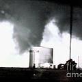 Tornado Attacks A Water Tower by Stanley Morganstein