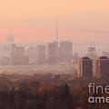 Toronto Foggy Sunrise by Charline Xia