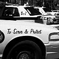 Toronto Police Squad Cars Outside Police Station In Downtown Toronto Ontario Canada by Joe Fox