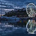 Torquay Marina And The Big Wheel by Ann Garrett