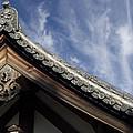 Toshodai-ji Temple Roof Gargoyle - Nara Japan by Daniel Hagerman