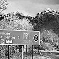 tourist sign for glencoe visitors centre in glen coe highlands Scotland uk by Joe Fox