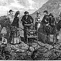 Tourists At Vesuvius, 1872 by Granger