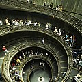 Tourists Descend The Double Spiral by Paul Chesley