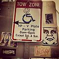 Tow Zone Collage by Mark Valentine