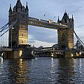 Tower Bridge And River Thames At Dusk by Axiom Photographic