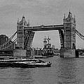 Tower Bridge And The Endeavor by Aldo Cervato
