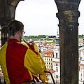 Tower Trumpeter - Prague by Jon Berghoff