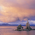 Towers Of Calcium Carbonate Called Tufa by Phil Schermeister