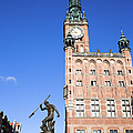 Town Hall And Neptune Fountain In Gdansk by Artur Bogacki