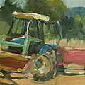 Tractor In Italy by Elizabeth Taft