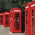 Traditional Red Telephone Boxes In London, England by Hisham Ibrahim