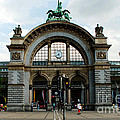 Train Station At Lucerne by Pravine Chester