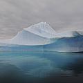 Translucent Blue Iceberg Reflection by Mathieu Meur
