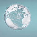 Transparent Globe Displaying Three Continents by Christoph Wilhelm