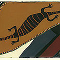 Traveling Goanna by Pat Saunders-White