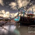 Trawler At New Quay by Rob Hawkins