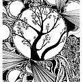 Tree Doodle 58 by Danielle Scott